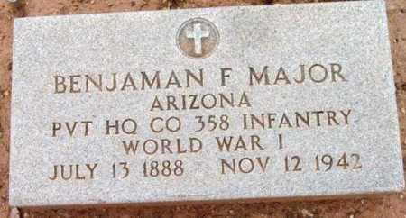 MAJOR, BENJAMAN FRANKLIN - Yavapai County, Arizona | BENJAMAN FRANKLIN MAJOR - Arizona Gravestone Photos
