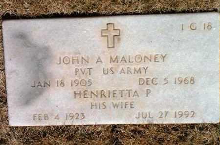 MALONEY, JOHN A. - Yavapai County, Arizona   JOHN A. MALONEY - Arizona Gravestone Photos