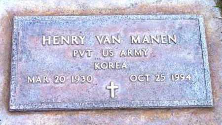 MANEN, HENRY VAN - Yavapai County, Arizona   HENRY VAN MANEN - Arizona Gravestone Photos