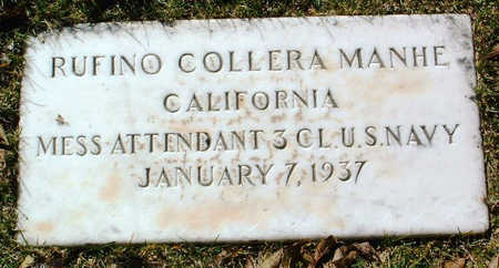 MANHE, RUFINO COLLERA - Yavapai County, Arizona | RUFINO COLLERA MANHE - Arizona Gravestone Photos