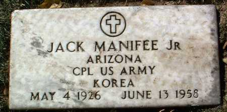 MANIFEE, JACK, JR. - Yavapai County, Arizona | JACK, JR. MANIFEE - Arizona Gravestone Photos