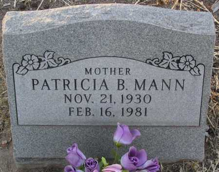 MANN, PATRICIA B. - Yavapai County, Arizona | PATRICIA B. MANN - Arizona Gravestone Photos
