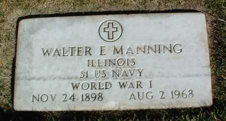 MANNING, WALTER E. - Yavapai County, Arizona   WALTER E. MANNING - Arizona Gravestone Photos