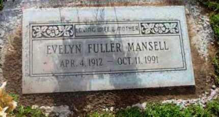 FULLER MANSELL, EVELYN - Yavapai County, Arizona | EVELYN FULLER MANSELL - Arizona Gravestone Photos