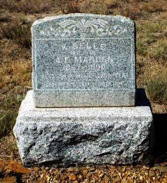 MARDEN, KATHERINE BELLE - Yavapai County, Arizona   KATHERINE BELLE MARDEN - Arizona Gravestone Photos
