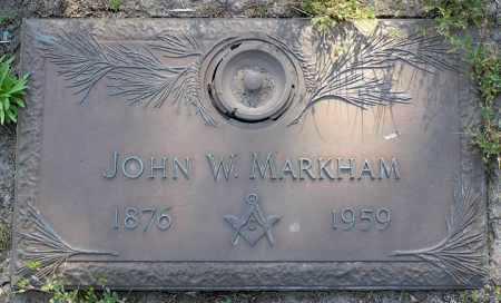 MARKHAM, JOHN WEST - Yavapai County, Arizona   JOHN WEST MARKHAM - Arizona Gravestone Photos