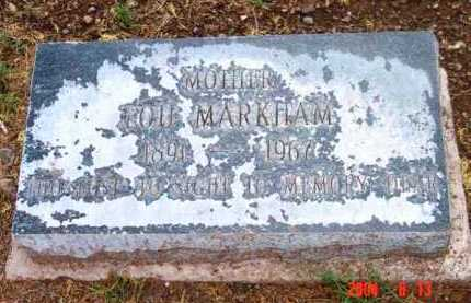 MARKHAM, LOU - Yavapai County, Arizona | LOU MARKHAM - Arizona Gravestone Photos