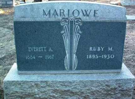 MARLOWE, EVERETT A. - Yavapai County, Arizona   EVERETT A. MARLOWE - Arizona Gravestone Photos