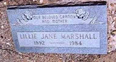 MARSHALL, LILLIE JANE - Yavapai County, Arizona | LILLIE JANE MARSHALL - Arizona Gravestone Photos