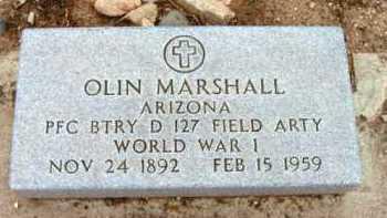 MARSHALL, OLIN - Yavapai County, Arizona | OLIN MARSHALL - Arizona Gravestone Photos