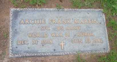 MARTIN, ARCHIE FRANK - Yavapai County, Arizona | ARCHIE FRANK MARTIN - Arizona Gravestone Photos