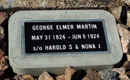 MARTIN, GEORGE ELMER - Yavapai County, Arizona | GEORGE ELMER MARTIN - Arizona Gravestone Photos
