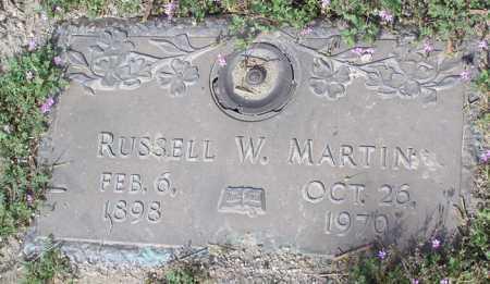 MARTIN, RUSSELL W. - Yavapai County, Arizona   RUSSELL W. MARTIN - Arizona Gravestone Photos