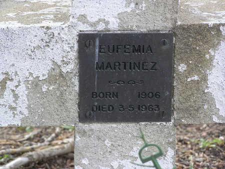 MARTINEZ, EUFEMIA - Yavapai County, Arizona | EUFEMIA MARTINEZ - Arizona Gravestone Photos