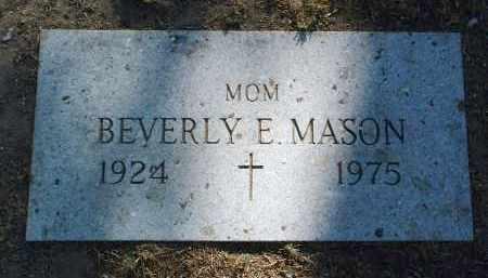 MASON, BEVERLY E. - Yavapai County, Arizona | BEVERLY E. MASON - Arizona Gravestone Photos