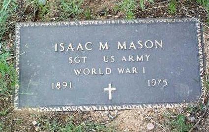 MASON, ISAAC M. - Yavapai County, Arizona | ISAAC M. MASON - Arizona Gravestone Photos