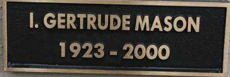 MASON, I. GERTRUDE - Yavapai County, Arizona   I. GERTRUDE MASON - Arizona Gravestone Photos