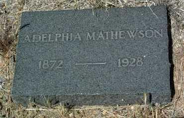 MATHEWSON, ALDELPHIA - Yavapai County, Arizona | ALDELPHIA MATHEWSON - Arizona Gravestone Photos