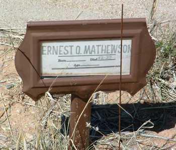 MATHEWSON, ERNEST OTIS - Yavapai County, Arizona   ERNEST OTIS MATHEWSON - Arizona Gravestone Photos
