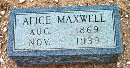 MAXWELL, ALICE ADELIA - Yavapai County, Arizona | ALICE ADELIA MAXWELL - Arizona Gravestone Photos