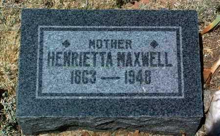 DENSMORE MAXWELL, HENRIETTA - Yavapai County, Arizona | HENRIETTA DENSMORE MAXWELL - Arizona Gravestone Photos
