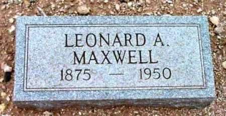 MAXWELL, LEONARD ALBERT - Yavapai County, Arizona   LEONARD ALBERT MAXWELL - Arizona Gravestone Photos