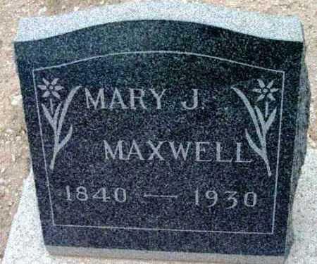 MAXWELL, MARY JANE - Yavapai County, Arizona   MARY JANE MAXWELL - Arizona Gravestone Photos