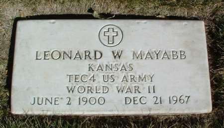 MAYABB, LEONARD W. - Yavapai County, Arizona | LEONARD W. MAYABB - Arizona Gravestone Photos