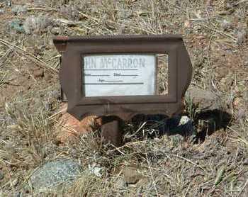 MCCARRON, JOHN - Yavapai County, Arizona   JOHN MCCARRON - Arizona Gravestone Photos