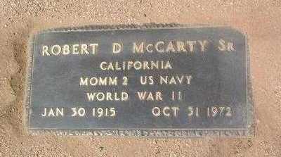 MCCARTY, ROBERT D., SR. - Yavapai County, Arizona   ROBERT D., SR. MCCARTY - Arizona Gravestone Photos