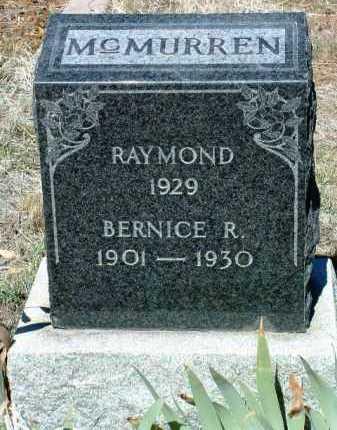 MCMURREN, BERNICE REBA - Yavapai County, Arizona | BERNICE REBA MCMURREN - Arizona Gravestone Photos