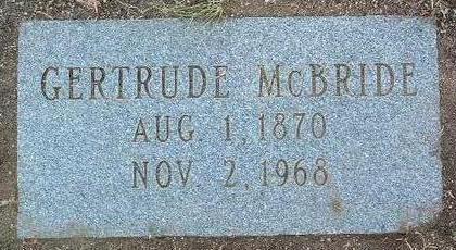 MCBRIDE, GERTRUDE - Yavapai County, Arizona | GERTRUDE MCBRIDE - Arizona Gravestone Photos