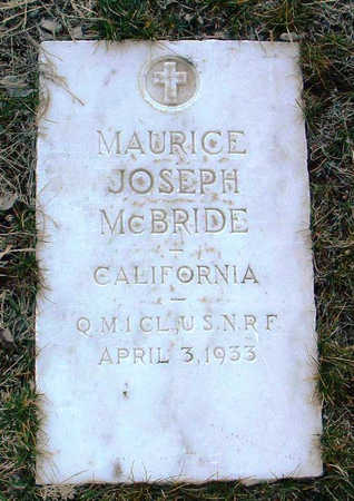 MCBRIDE, MAURICE JOSEPH - Yavapai County, Arizona   MAURICE JOSEPH MCBRIDE - Arizona Gravestone Photos