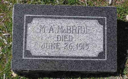 MCBRIDE, M. A. - Yavapai County, Arizona | M. A. MCBRIDE - Arizona Gravestone Photos