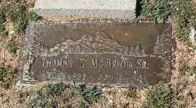 MCBRIDE, THOMAS  S., SR. - Yavapai County, Arizona | THOMAS  S., SR. MCBRIDE - Arizona Gravestone Photos