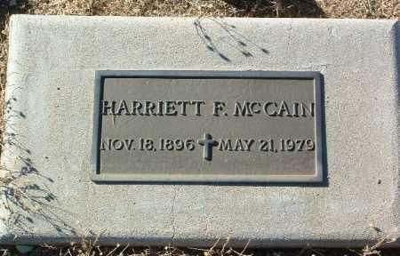 MCCAIN, HARRIETT F. - Yavapai County, Arizona   HARRIETT F. MCCAIN - Arizona Gravestone Photos