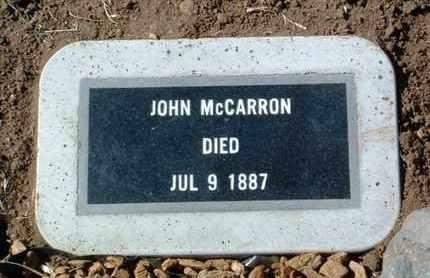 MCCARRON, JOHN - Yavapai County, Arizona | JOHN MCCARRON - Arizona Gravestone Photos