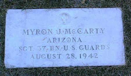 MCCARTY, MYRON  J. - Yavapai County, Arizona | MYRON  J. MCCARTY - Arizona Gravestone Photos
