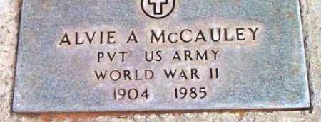 MCCAULEY, ALVIE A. - Yavapai County, Arizona | ALVIE A. MCCAULEY - Arizona Gravestone Photos