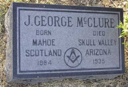 MCCLURE, J. GEORGE - Yavapai County, Arizona | J. GEORGE MCCLURE - Arizona Gravestone Photos