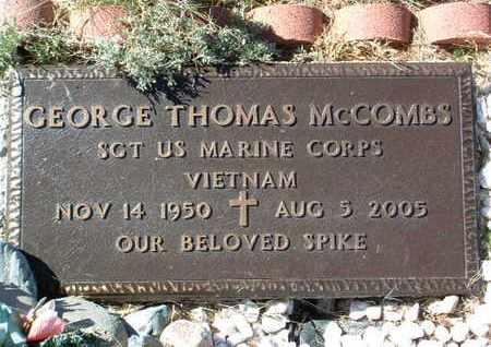 MCCOMBS, GEORGE THOMAS - Yavapai County, Arizona   GEORGE THOMAS MCCOMBS - Arizona Gravestone Photos