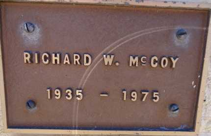 MCCOY, RICHARD W - Yavapai County, Arizona | RICHARD W MCCOY - Arizona Gravestone Photos