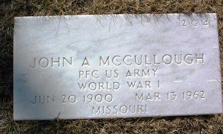 MCCULLOUGH, JOHN A. - Yavapai County, Arizona | JOHN A. MCCULLOUGH - Arizona Gravestone Photos
