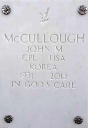 MCCULLOUGH, JOHN M. - Yavapai County, Arizona | JOHN M. MCCULLOUGH - Arizona Gravestone Photos