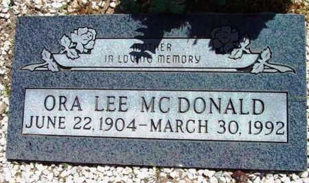 MCDONALD, ORA LEE - Yavapai County, Arizona | ORA LEE MCDONALD - Arizona Gravestone Photos