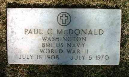 MCDONALD, PAUL C. - Yavapai County, Arizona | PAUL C. MCDONALD - Arizona Gravestone Photos