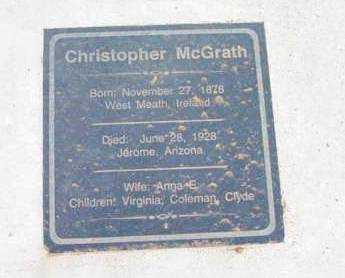 MCGRATH, CHRISTOPHER - Yavapai County, Arizona   CHRISTOPHER MCGRATH - Arizona Gravestone Photos