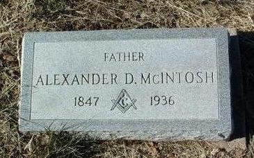 MCINTOSH, ALEXANDER D. - Yavapai County, Arizona | ALEXANDER D. MCINTOSH - Arizona Gravestone Photos