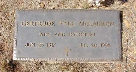PYLE MCLAUREN, GERTRUDE CLARA - Yavapai County, Arizona | GERTRUDE CLARA PYLE MCLAUREN - Arizona Gravestone Photos