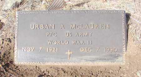 MCLAUREN, URBAN ANTHONY - Yavapai County, Arizona | URBAN ANTHONY MCLAUREN - Arizona Gravestone Photos